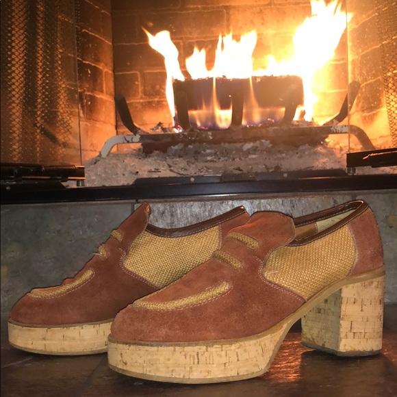 Mens Vintage 97s Cork Platform Shoes